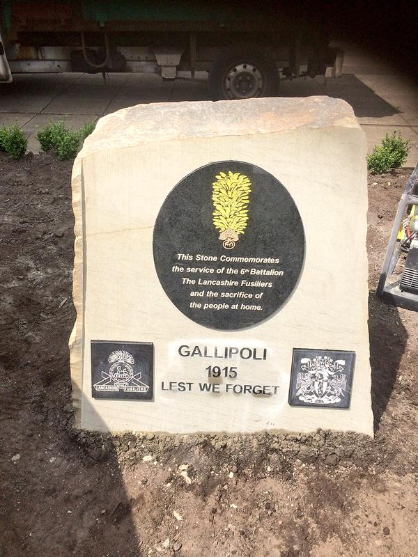 Stone block for the Gallipoli Commemoration